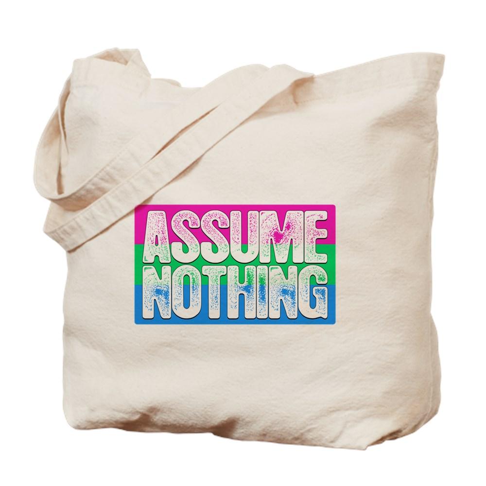 Assume Nothing Polysexual Pride Flag Tote Bag