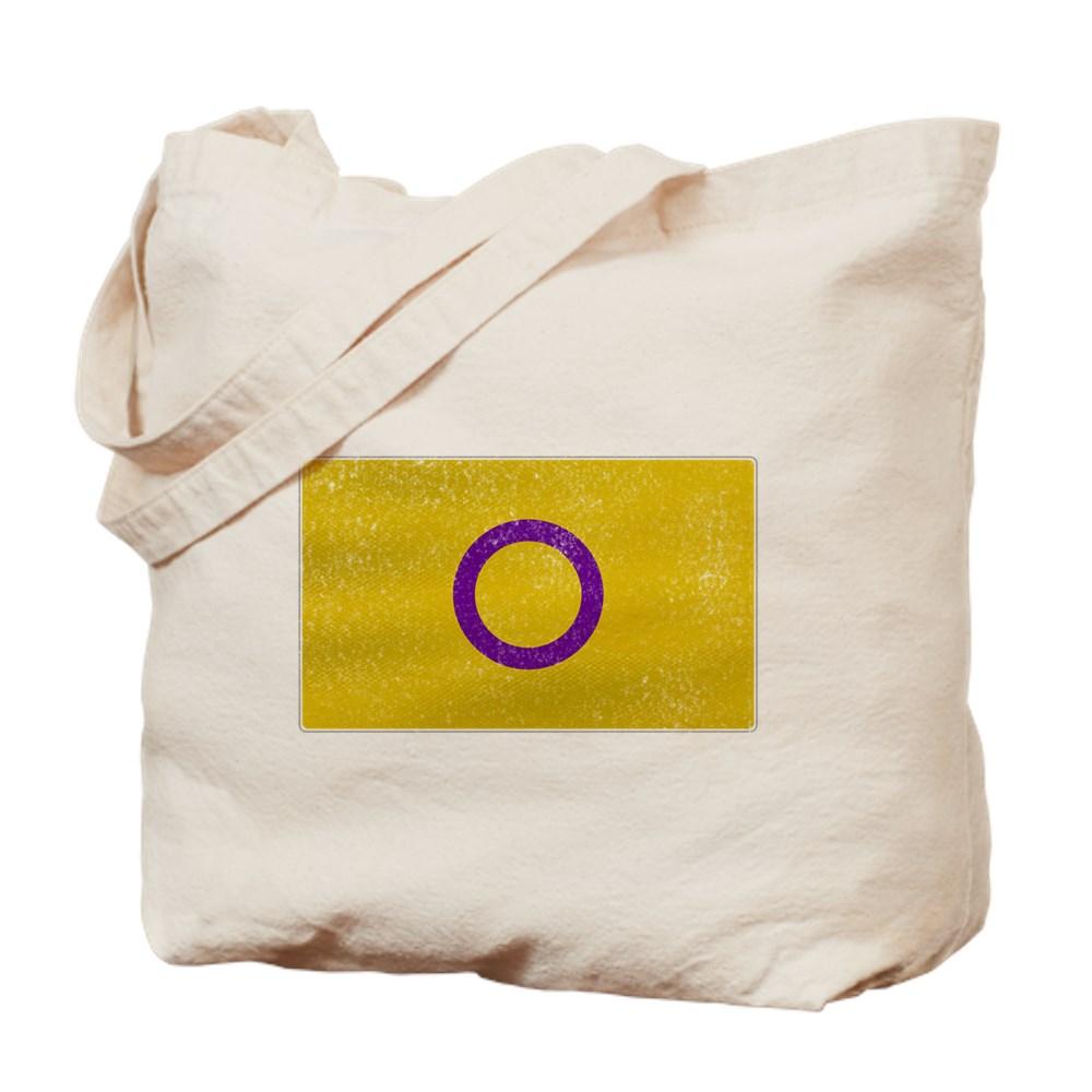 Distressed Intersex Pride Flag Tote Bag