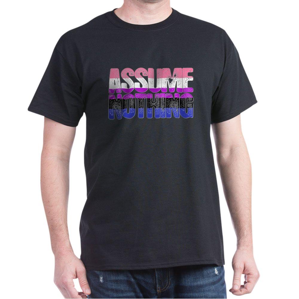 Assume Nothing Genderfluid Pride Dark T-Shirt