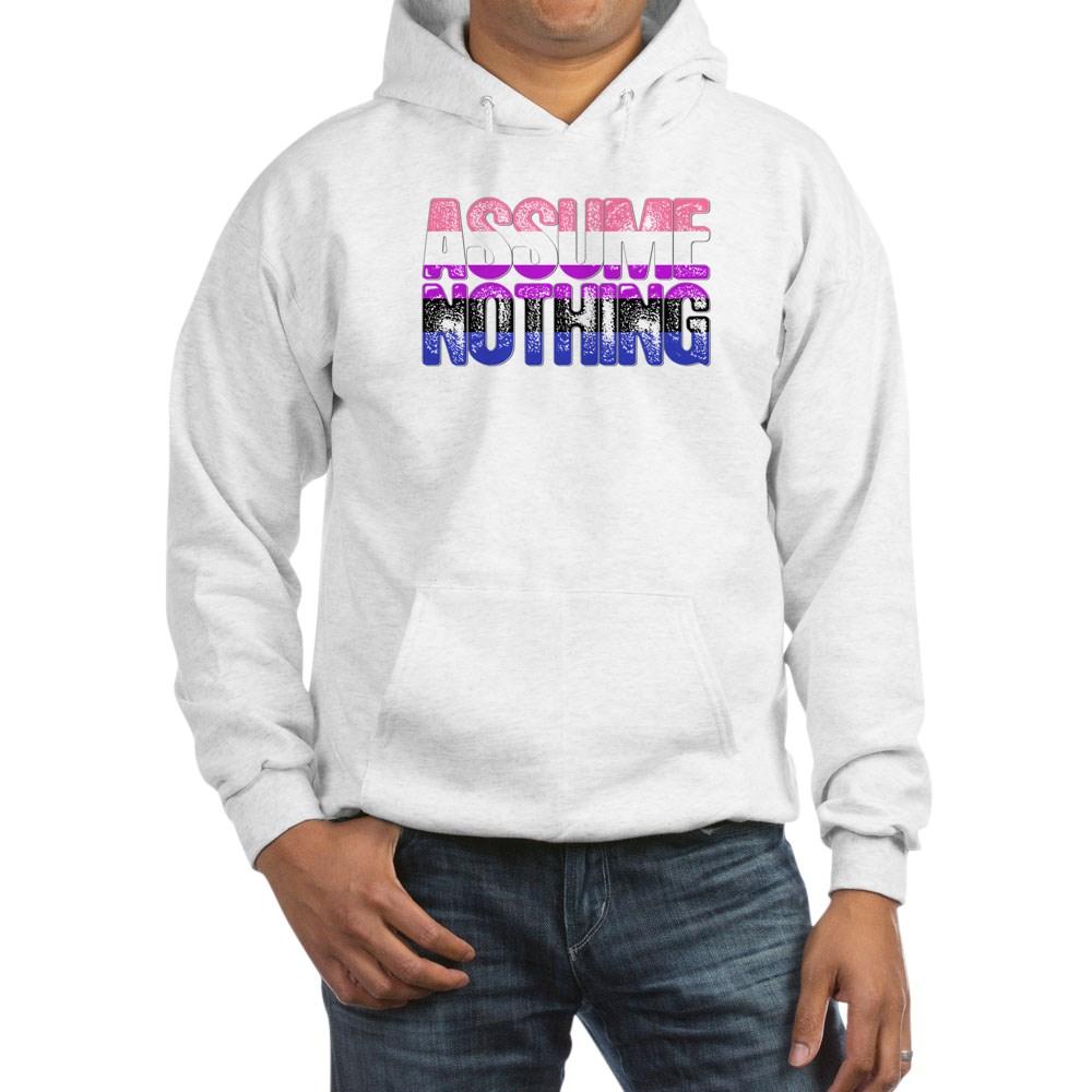Assume Nothing Genderfluid Pride Hooded Sweatshirt