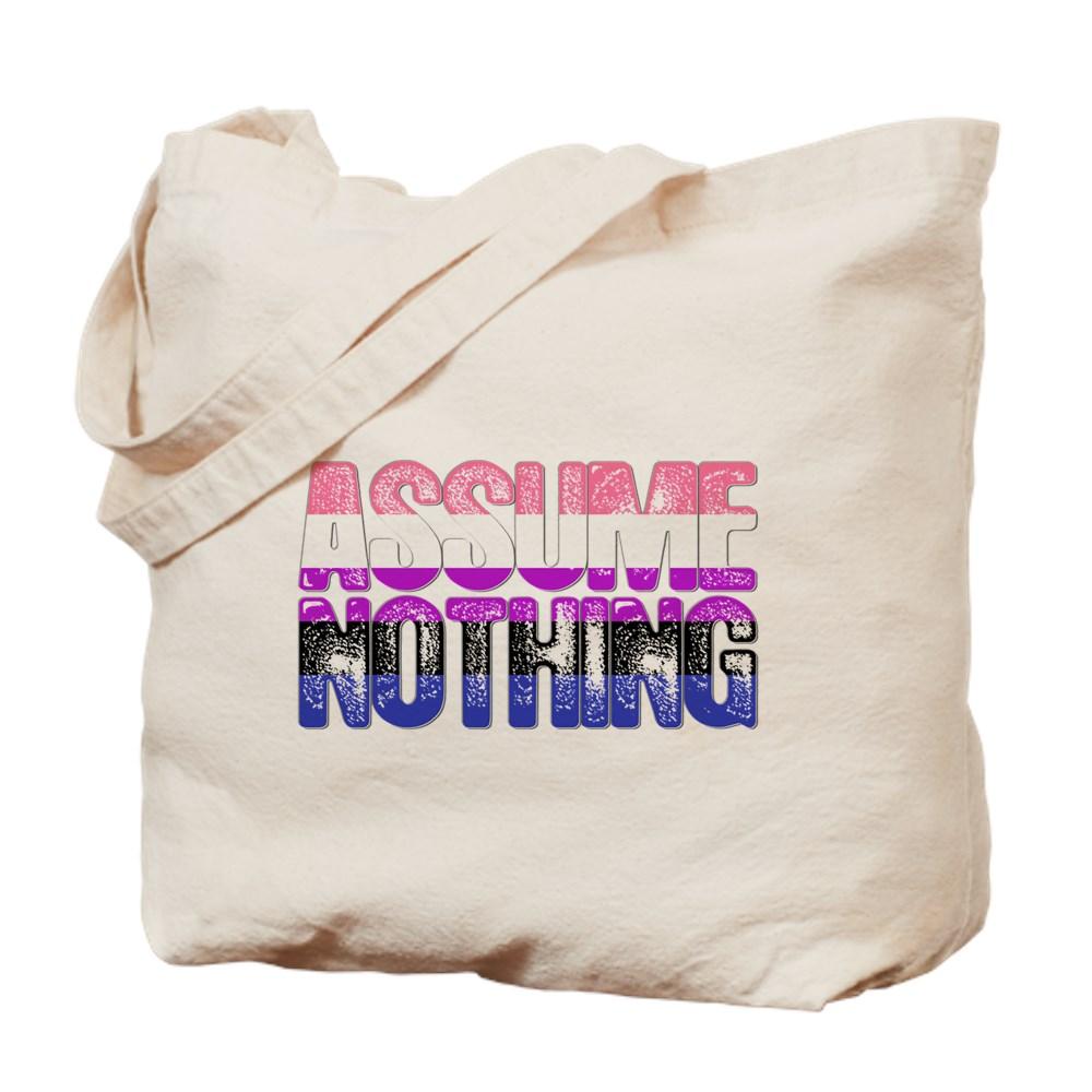 Assume Nothing Genderfluid Pride Tote Bag