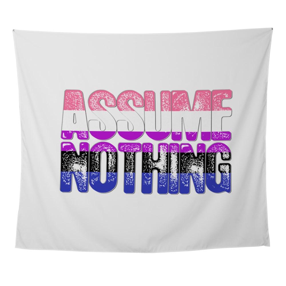 Assume Nothing Genderfluid Pride Wall Tapestry