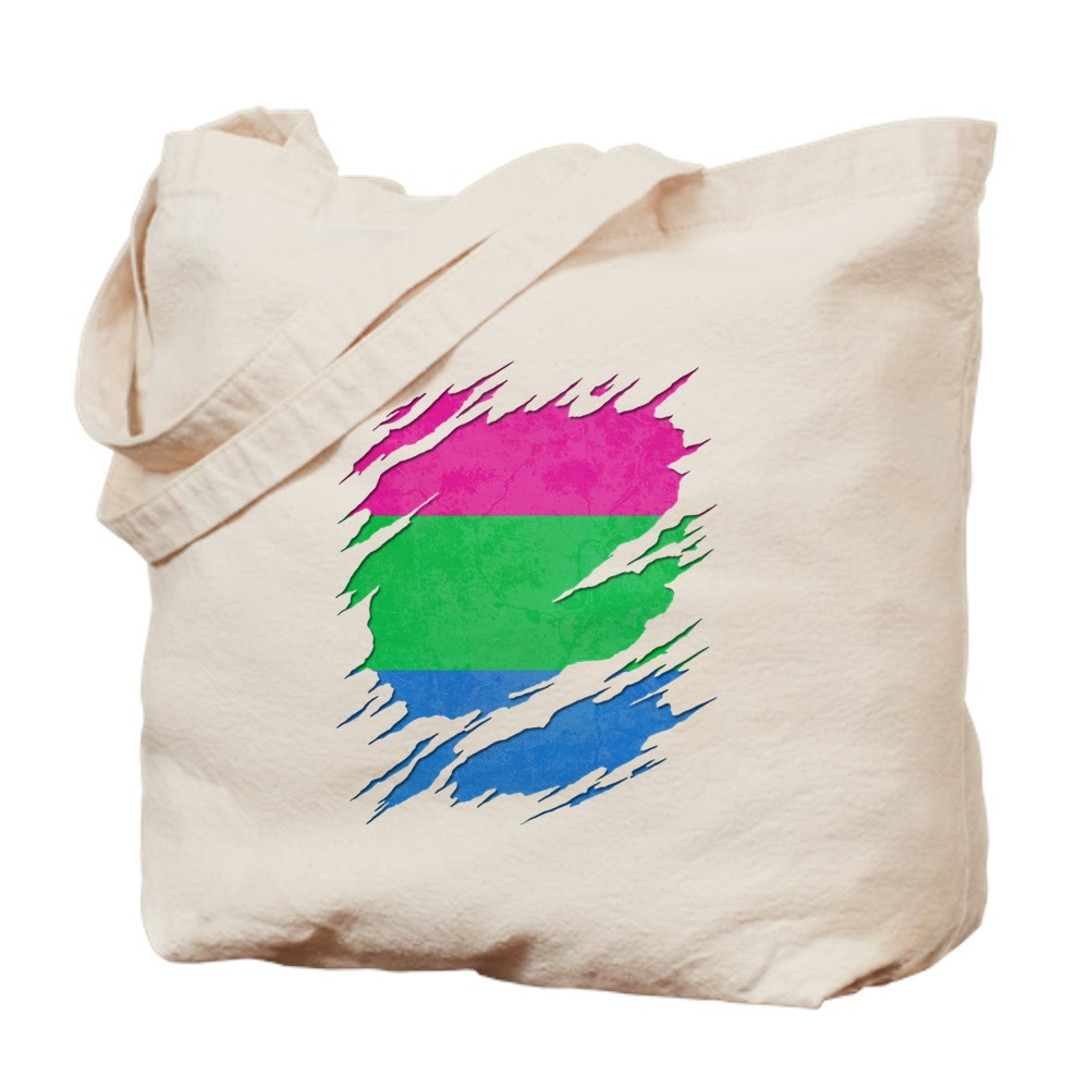 Polysexual Pride Ripped Reveal Tote Bag