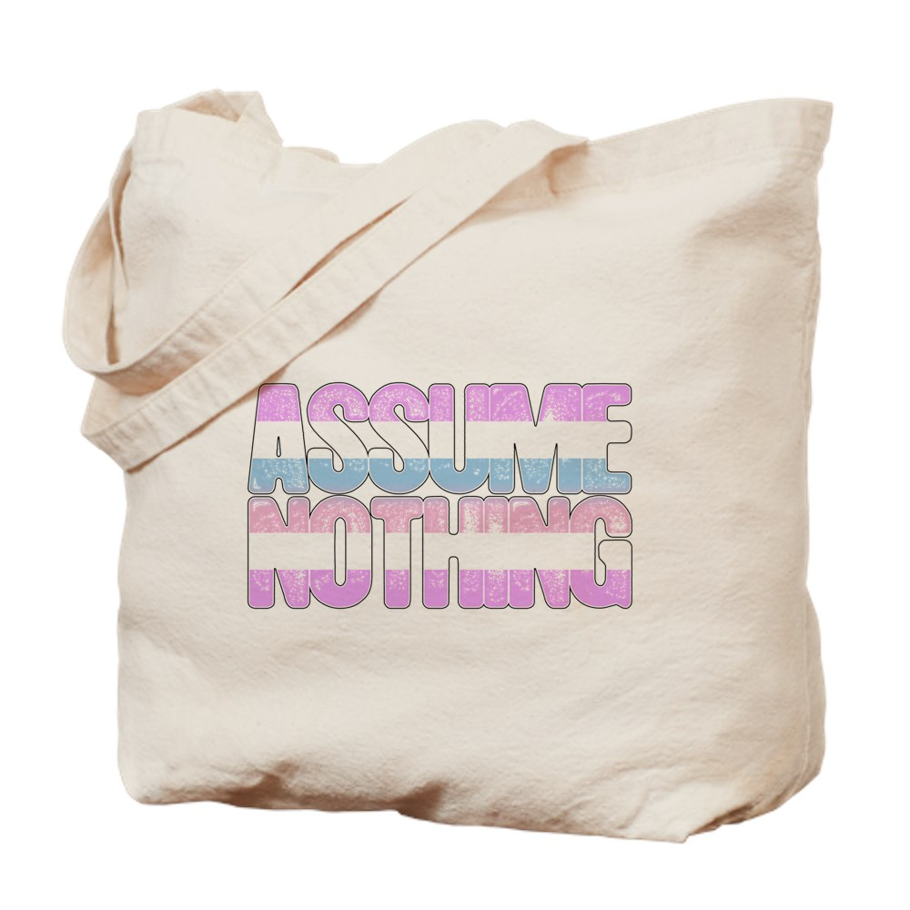 Assume Nothing Bigender Pride Tote Bag
