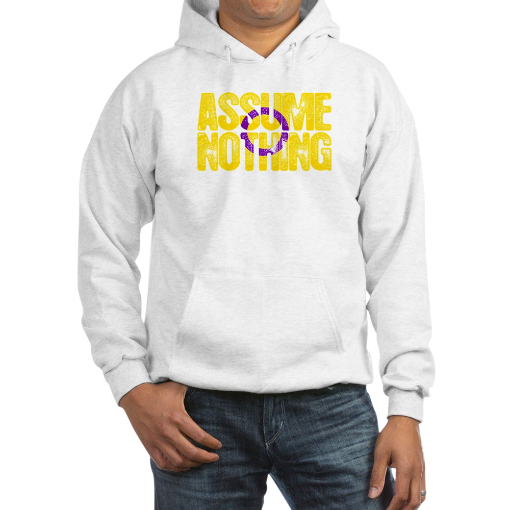 Assume Nothing Intersex Pride Hooded Sweatshirt