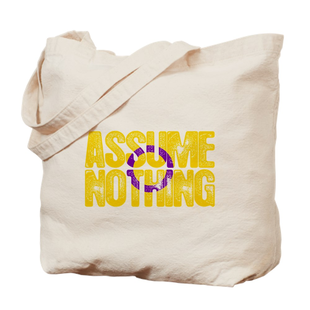 Assume Nothing Intersex Pride Tote Bag