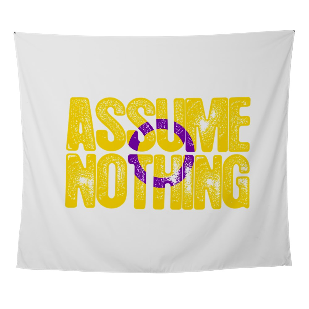 Assume Nothing Intersex Pride Wall Tapestry