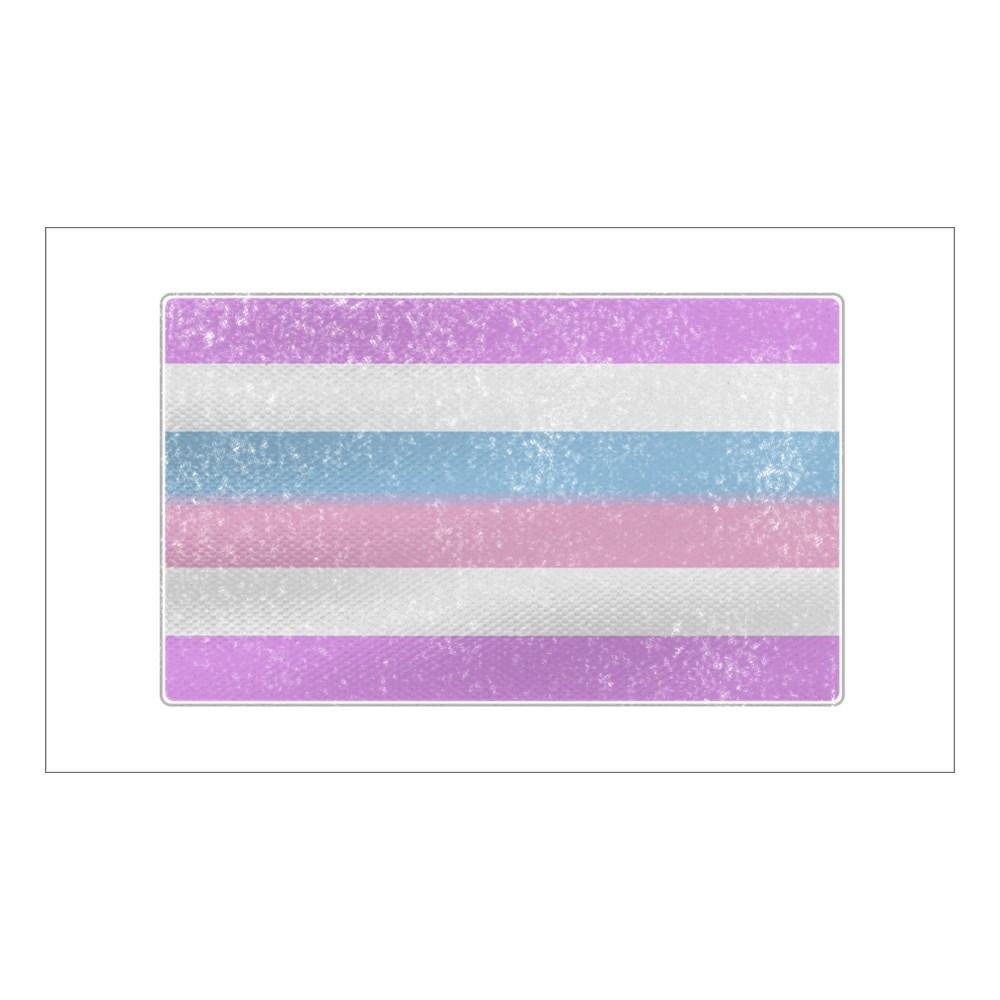 Distressed Bigender Pride Flag Rectangle Sticker