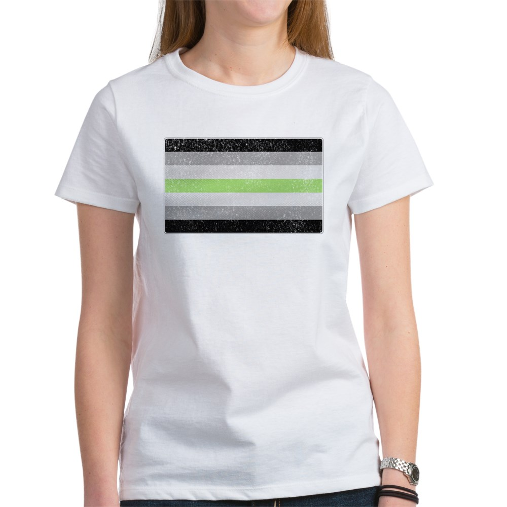 Distressed Agender Pride Flag Women's T-Shirt