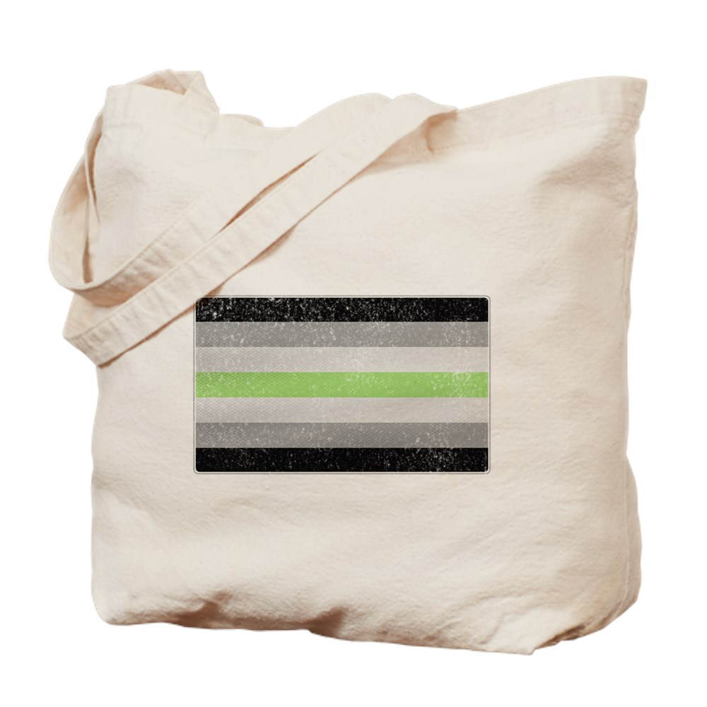 Distressed Agender Pride Flag Tote Bag