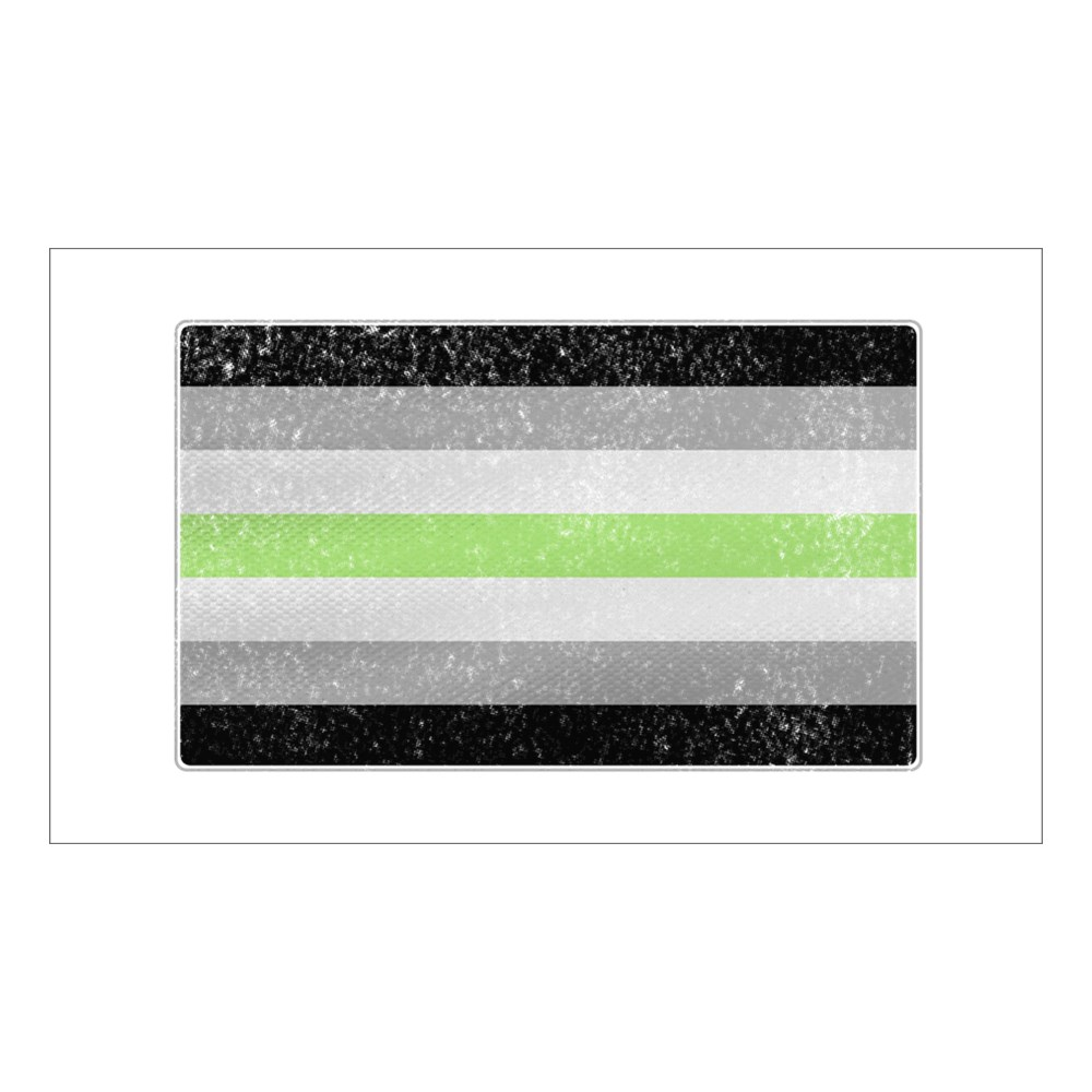 Distressed Agender Pride Flag Rectangle Sticker