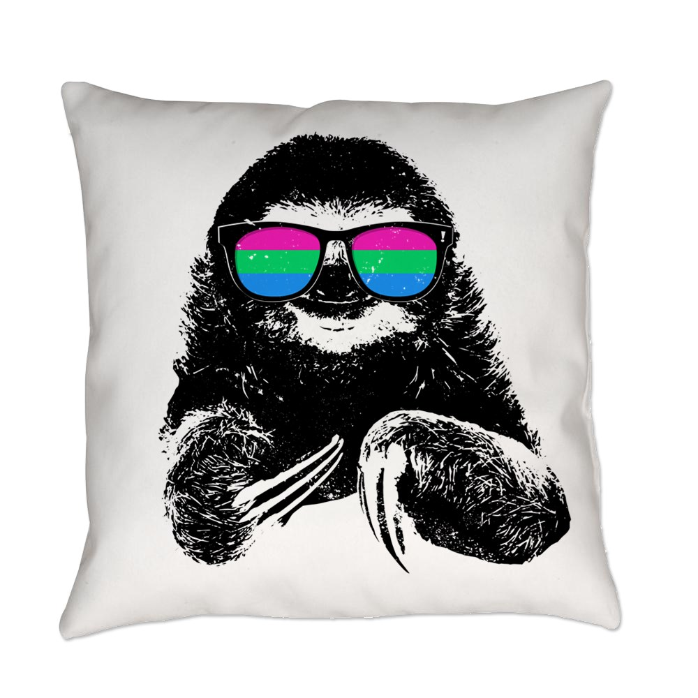 Pride Sloth Polysexual Flag Sunglasses Everyday Pillow