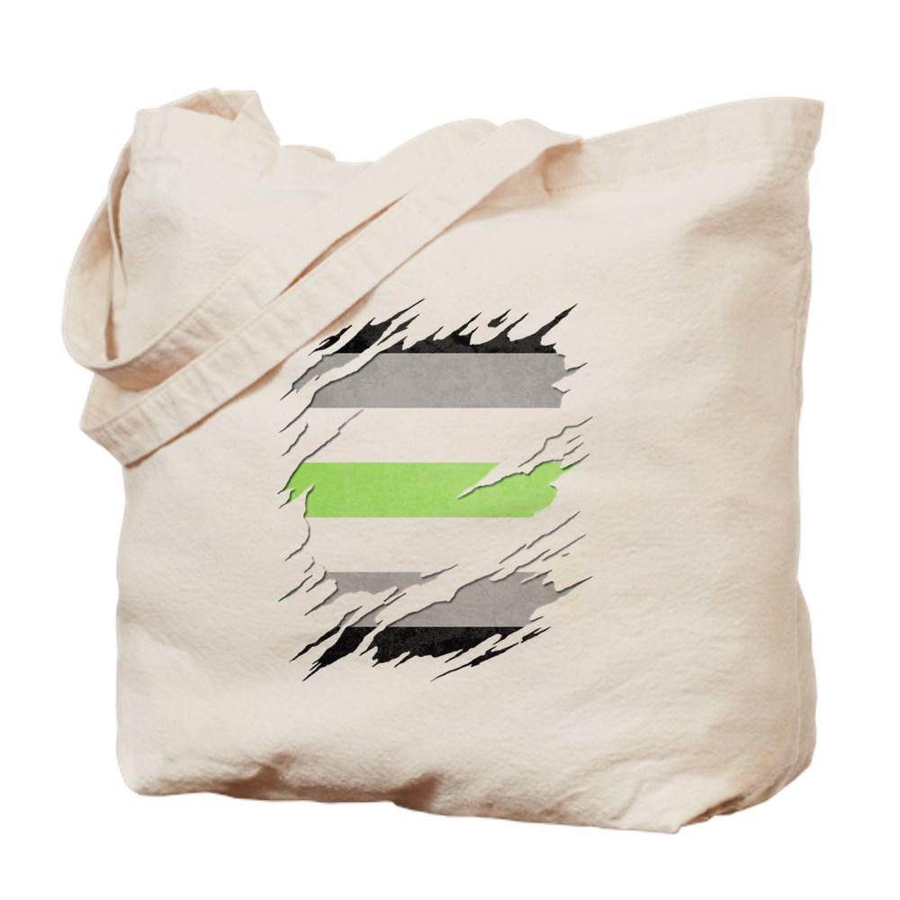 Agender Pride Flag Ripped Tote Bag