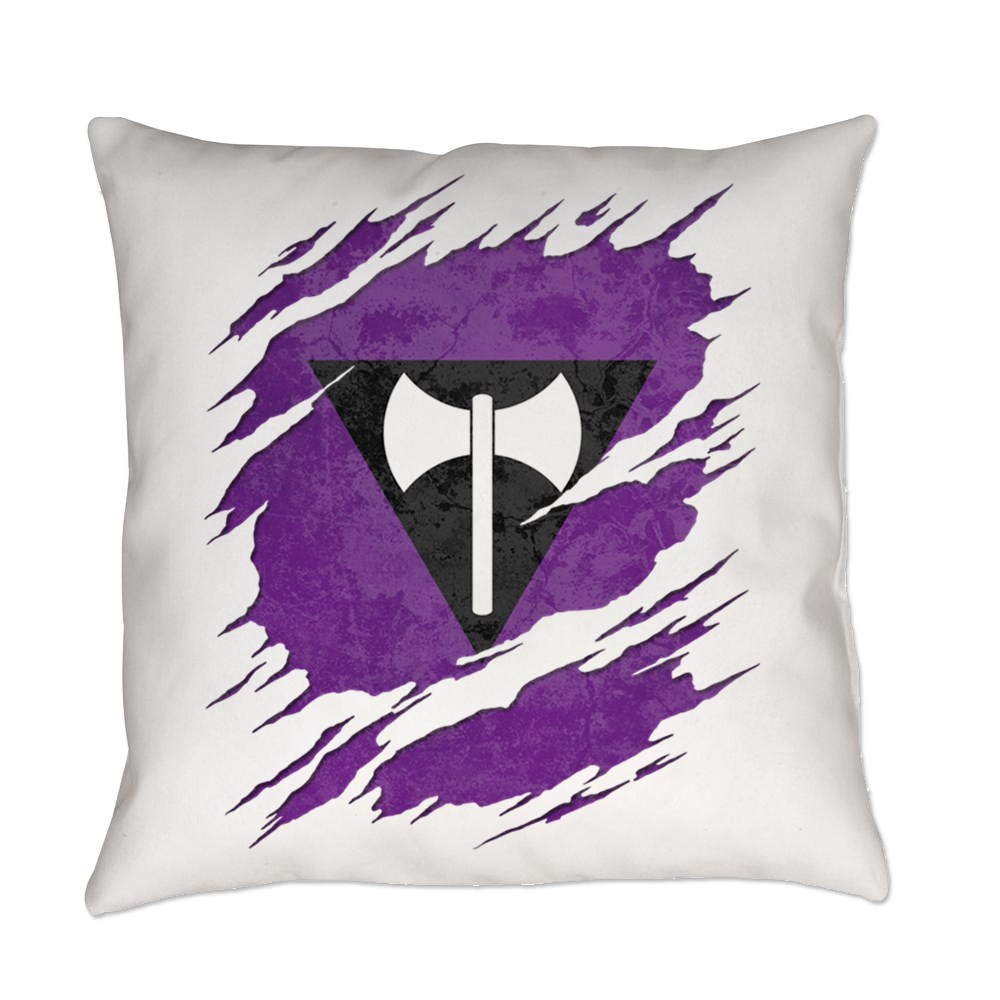 Lesbian Labrys Pride Flag Ripped Everyday Pillow