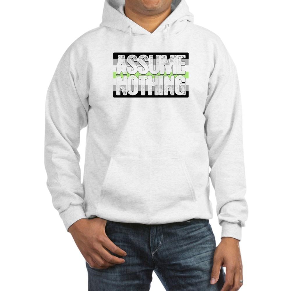 Assume Nothing Agender Pride Flag Hooded Sweatshirt