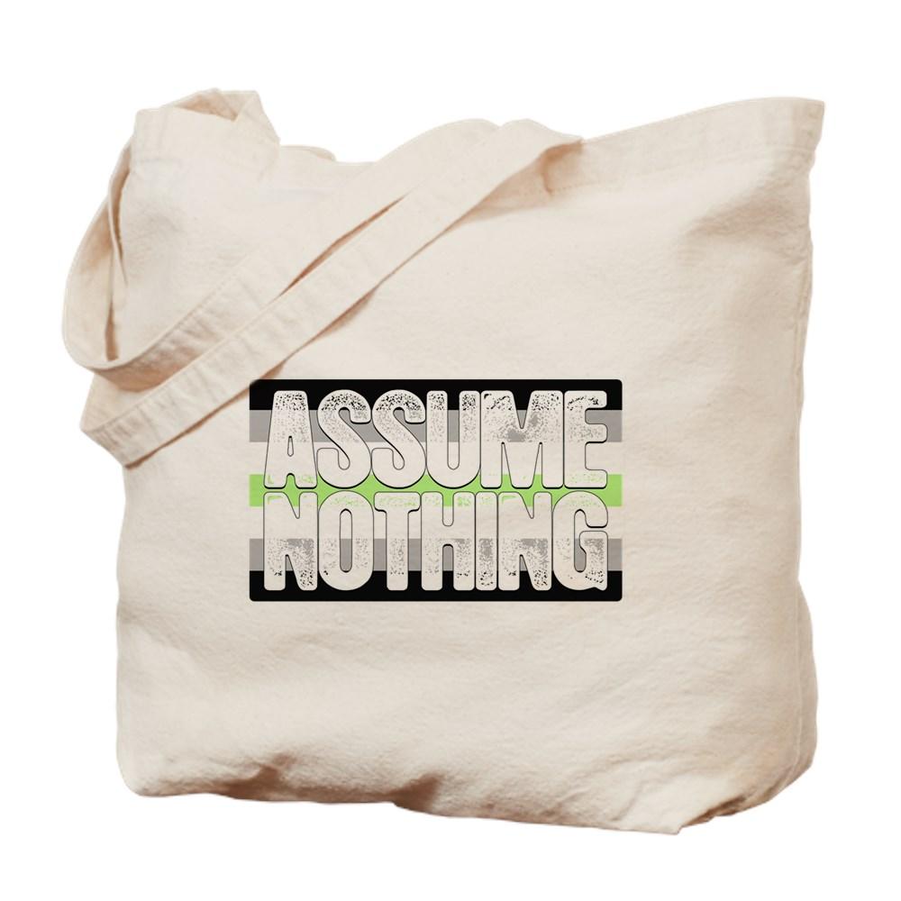 Assume Nothing Agender Pride Flag Tote Bag