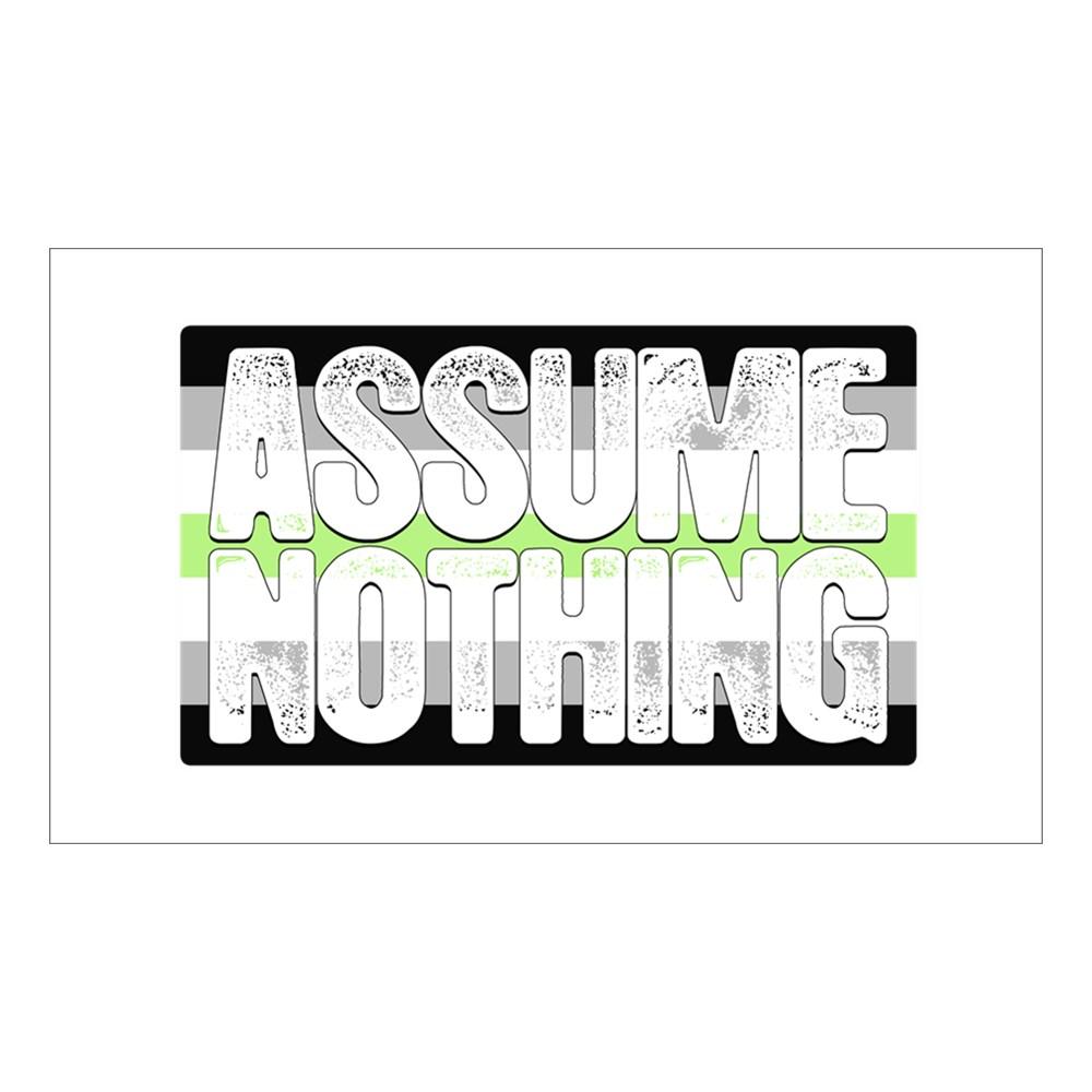 Assume Nothing Agender Pride Flag Rectangle Sticker