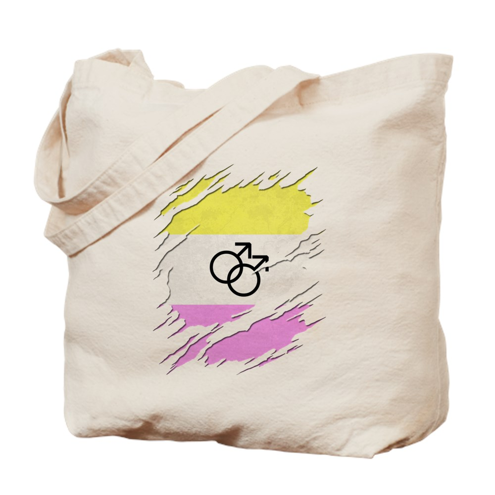 Gay Twink Pride Ripped Reveal Tote Bag