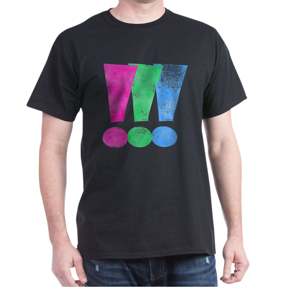 Distressed Polysexual Pride Exclamation Point Dark T-Shirt