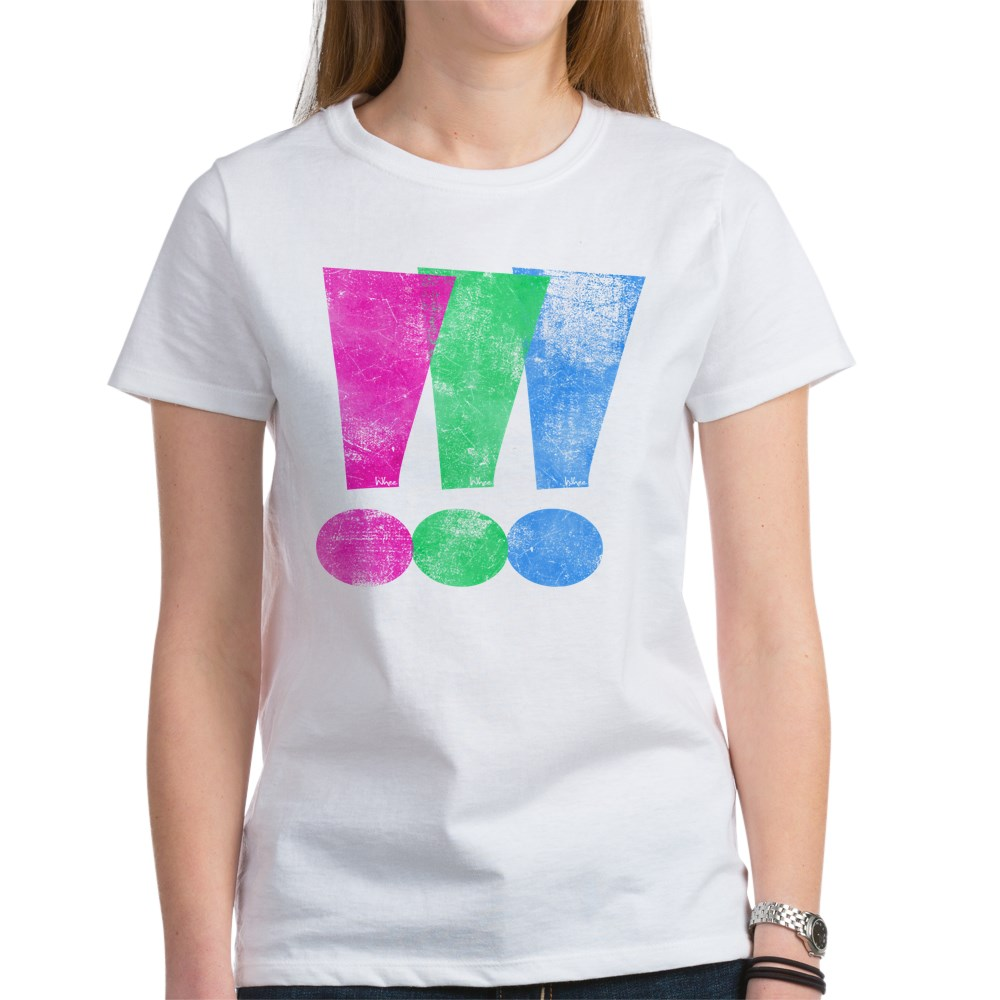 Distressed Polysexual Pride Exclamation Point Women's T-Shirt
