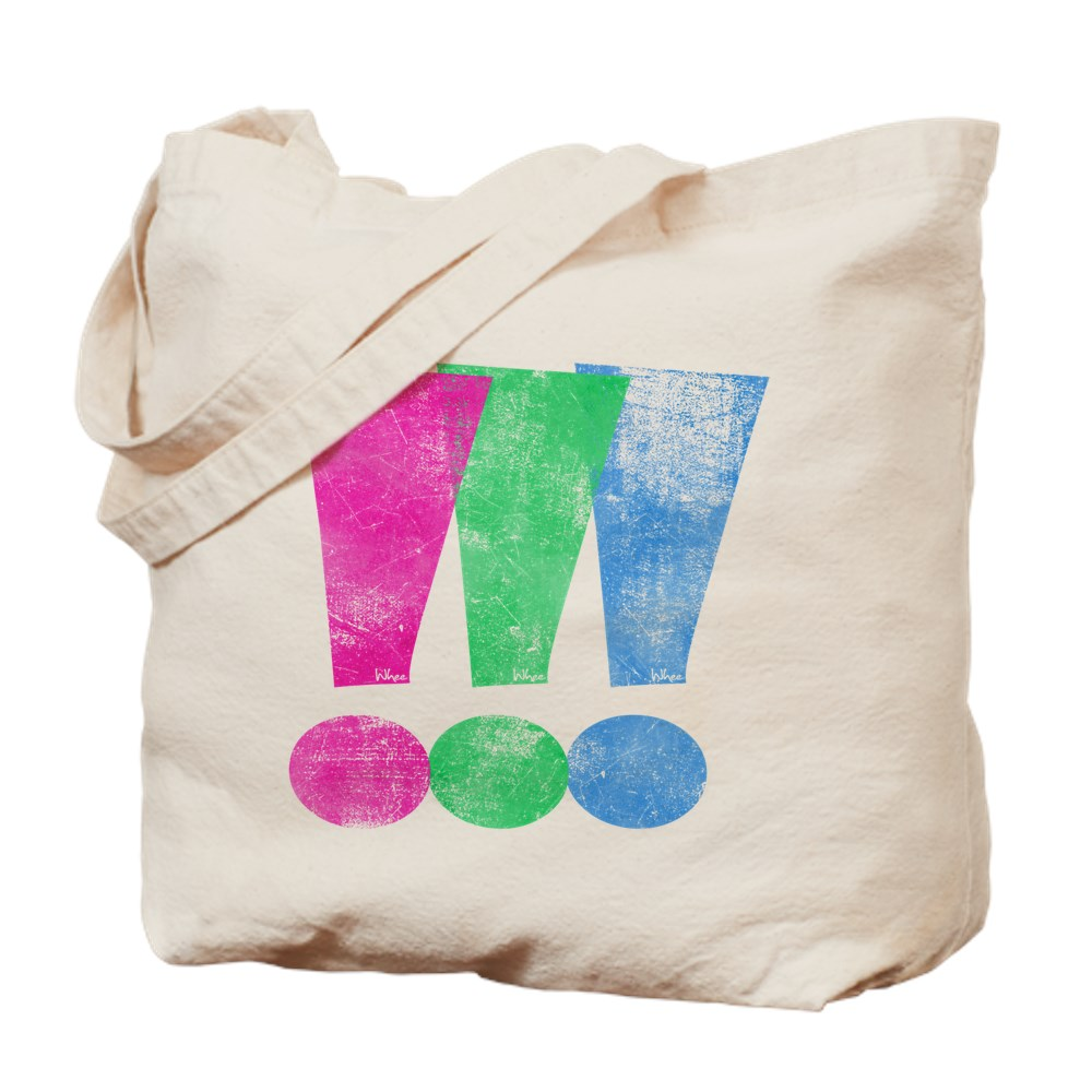 Distressed Polysexual Pride Exclamation Point Tote Bag