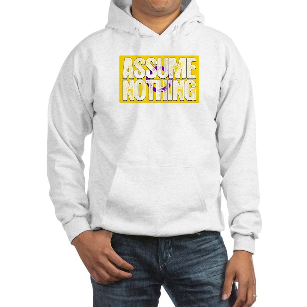 Assume Nothing Intersex Pride Flag Hooded Sweatshirt