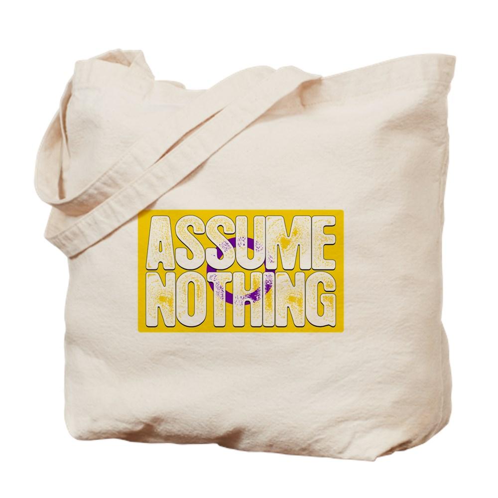 Assume Nothing Intersex Pride Flag Tote Bag