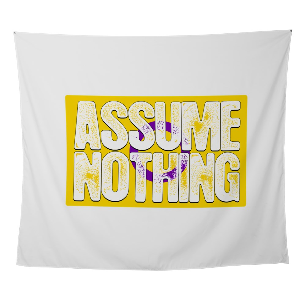Assume Nothing Intersex Pride Flag Wall Tapestry