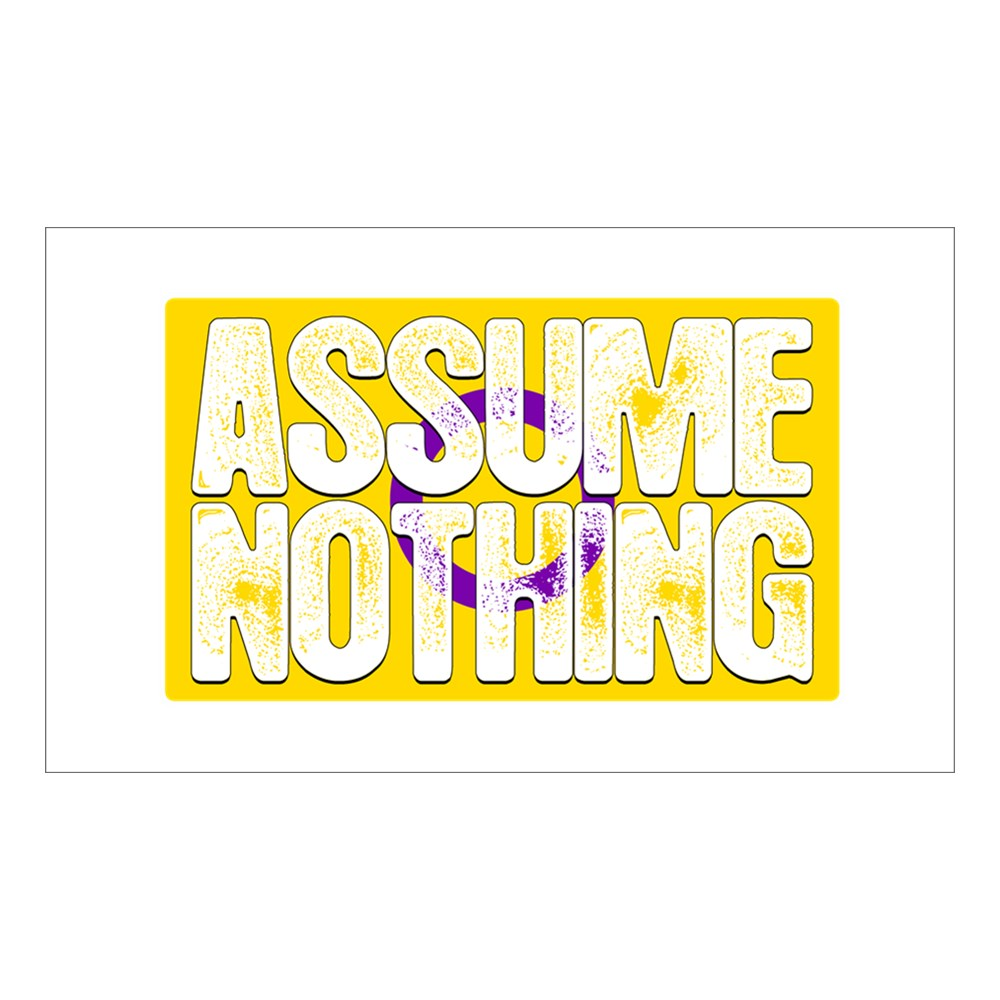 Assume Nothing Intersex Pride Flag Rectangle Sticker