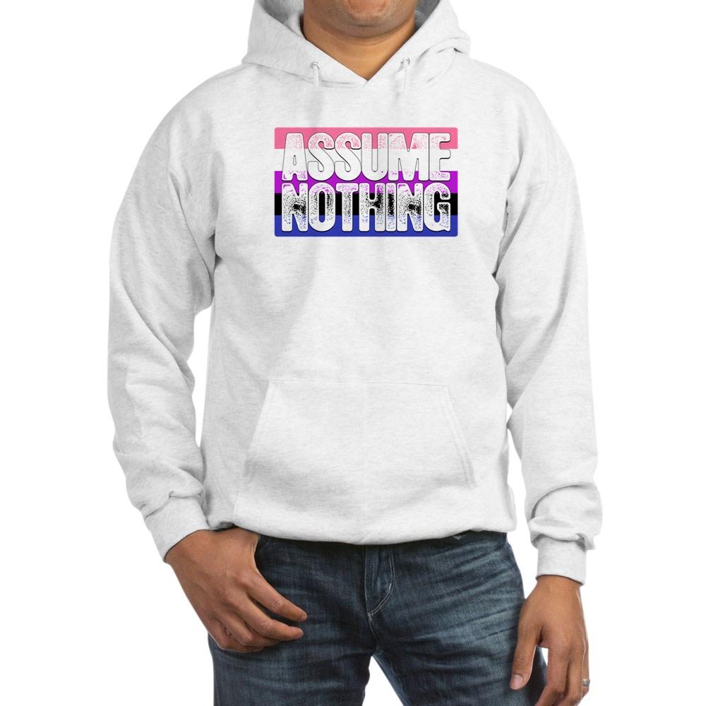 Assume Nothing Genderfluid Pride Flag Hooded Sweatshirt