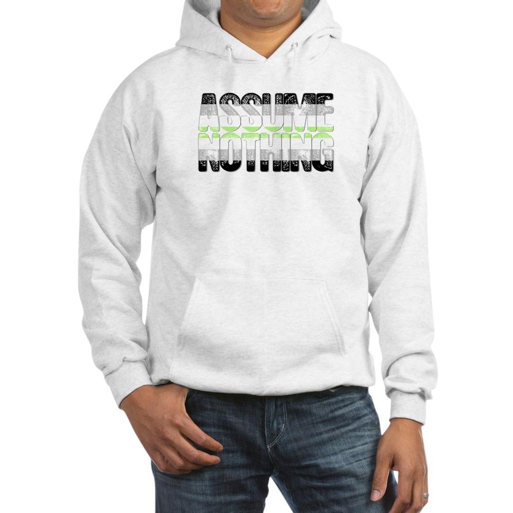 Assume Nothing Agender Pride Hooded Sweatshirt