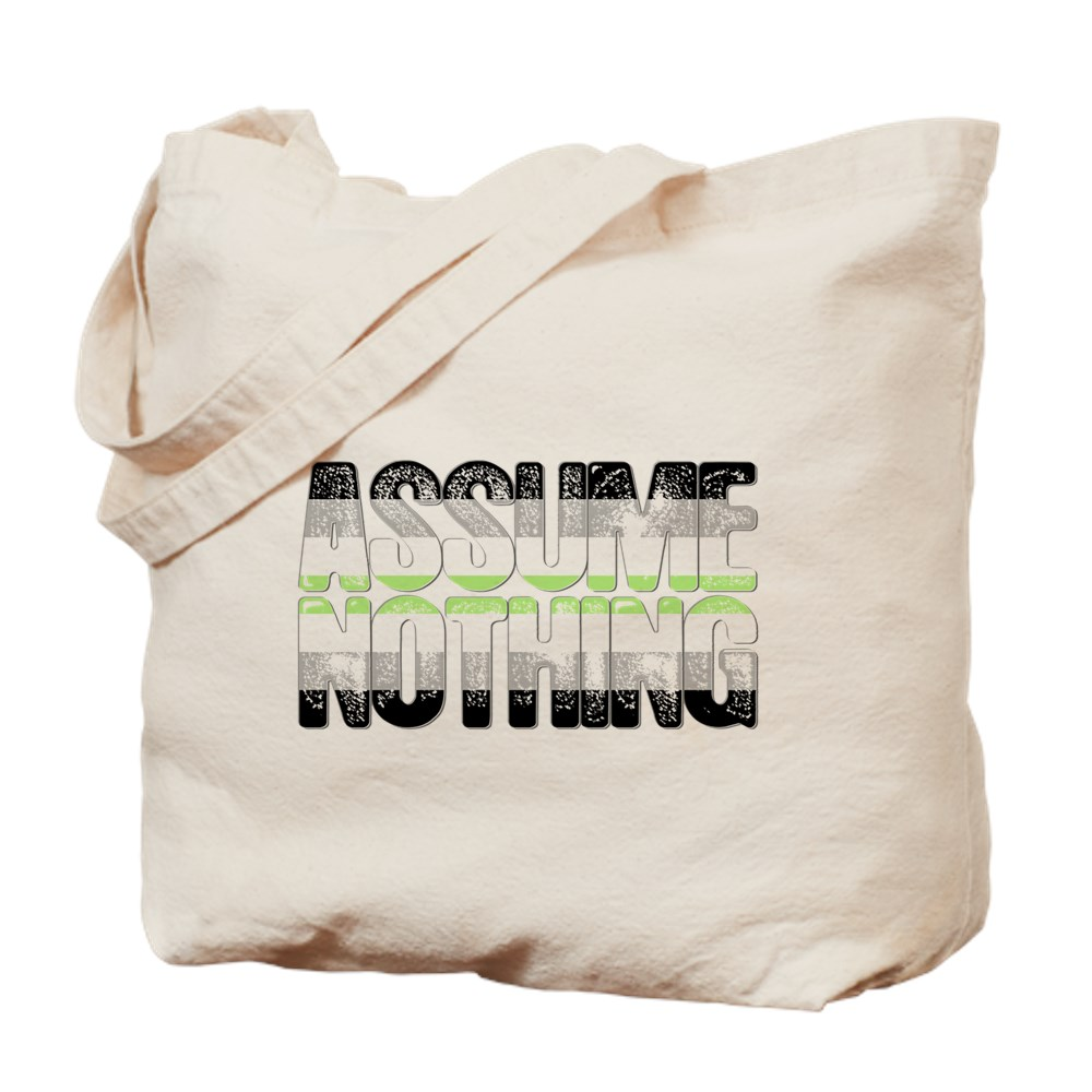 Assume Nothing Agender Pride Tote Bag