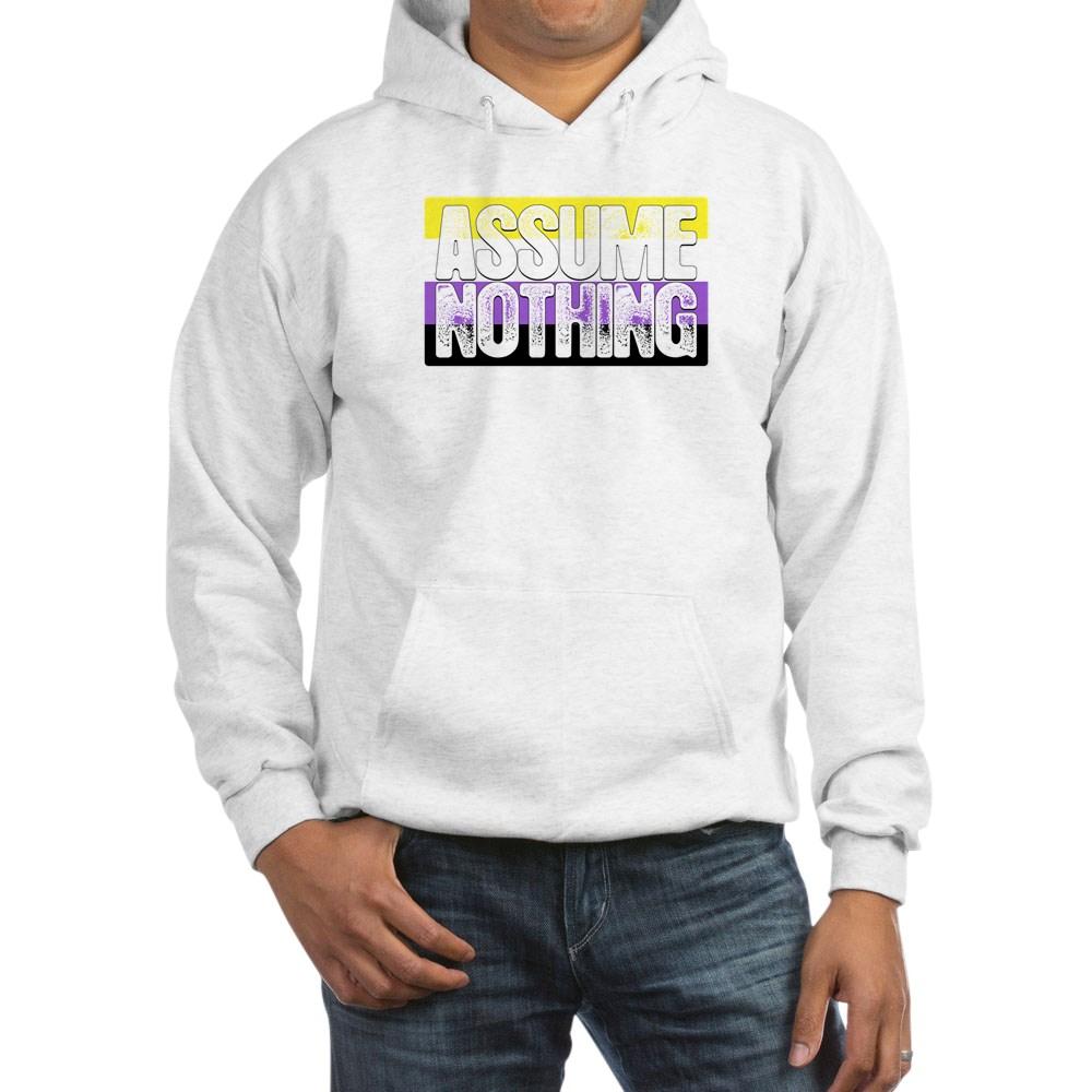 Assume Nothing Nonbinary Pride Flag Hooded Sweatshirt