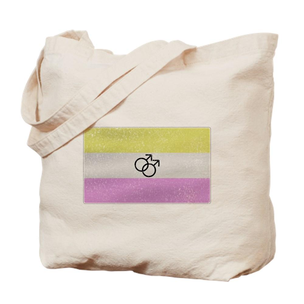 Distressed Gay Twink Pride Flag Tote Bag