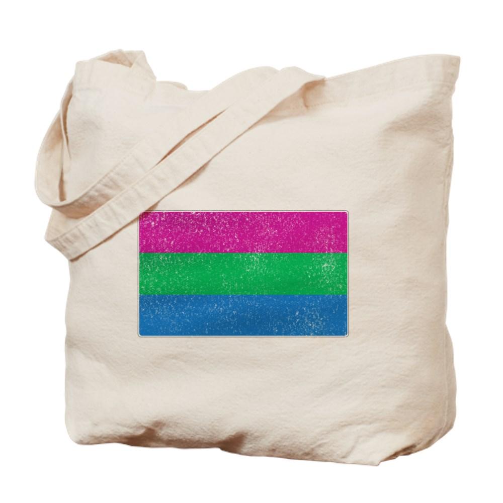 Distressed Polysexual Pride Flag Tote Bag