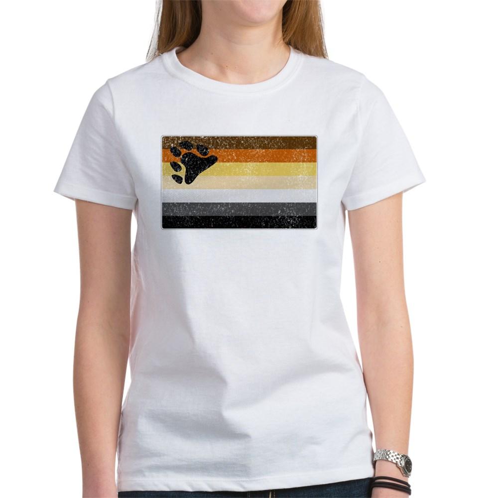 Distressed Gay Bear Pride Flag Women's T-Shirt