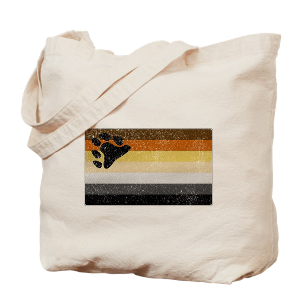 Distressed Gay Bear Pride Flag Tote Bag