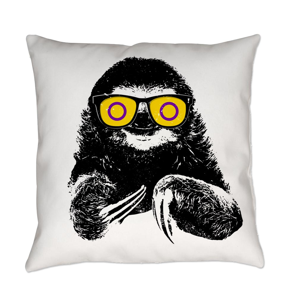 Pride Sloth Intersex Flag Sunglasses Everyday Pillow