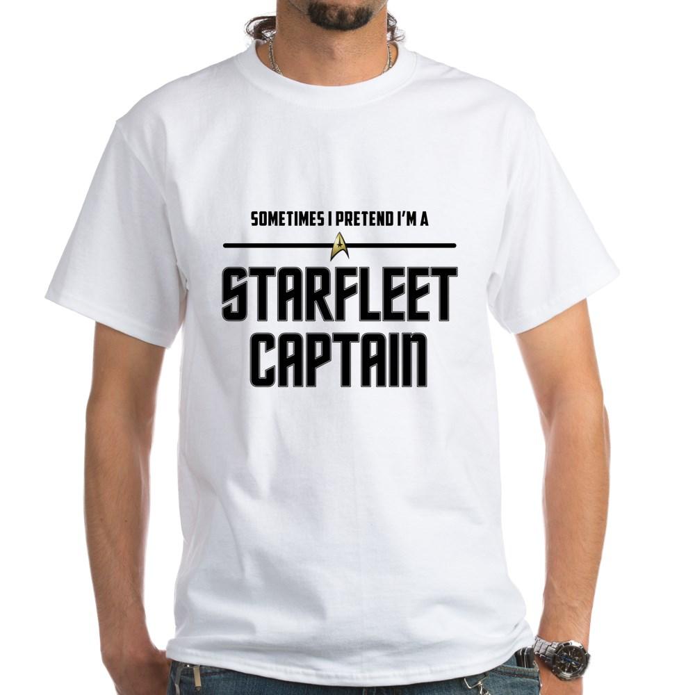 Sometime I Pretend I'm a Starfleet Captain White T-Shirt