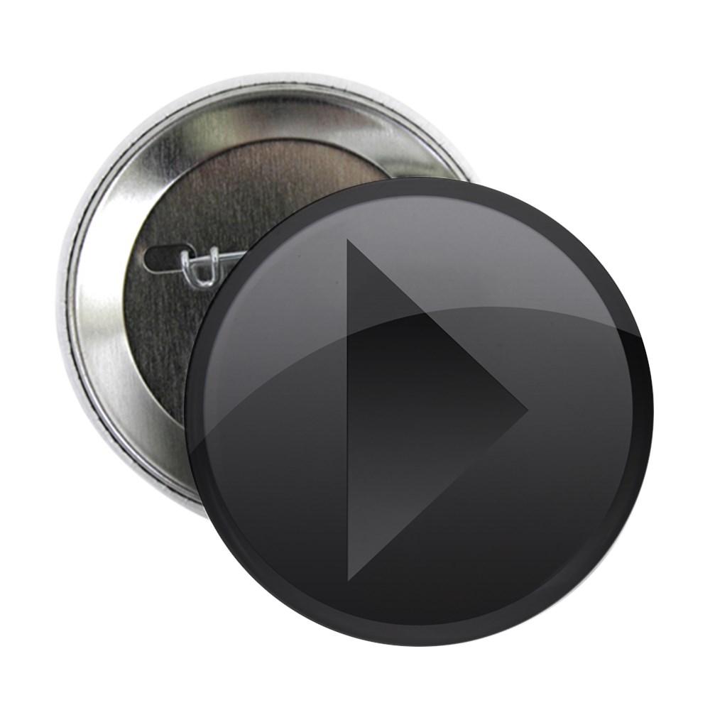 Black Play Button 2.25