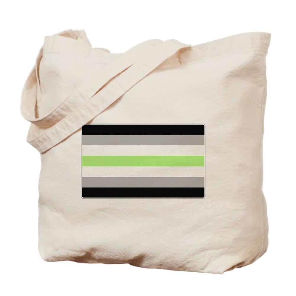 Agender Pride Flag Tote Bag