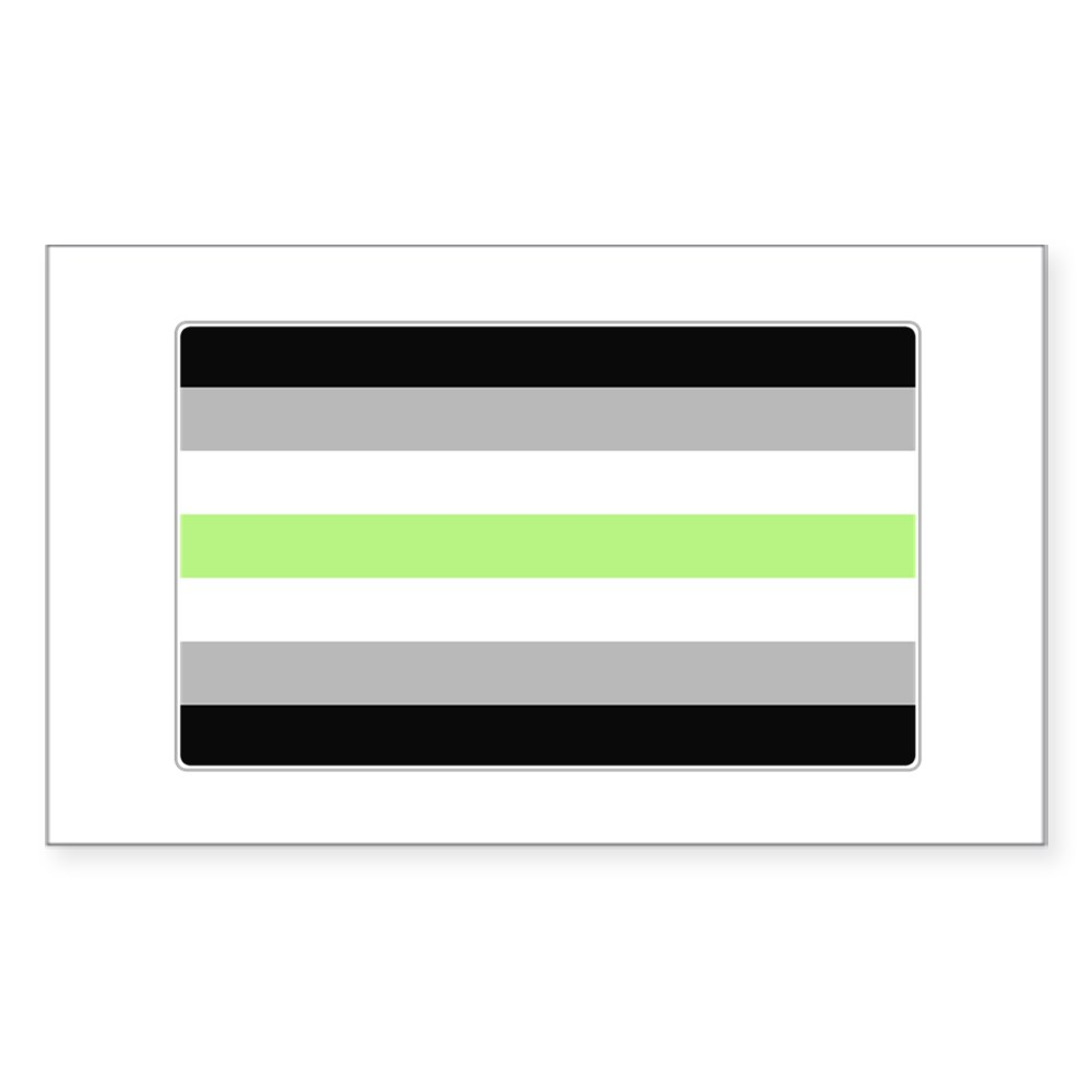 Agender Pride Flag Rectangle Sticker