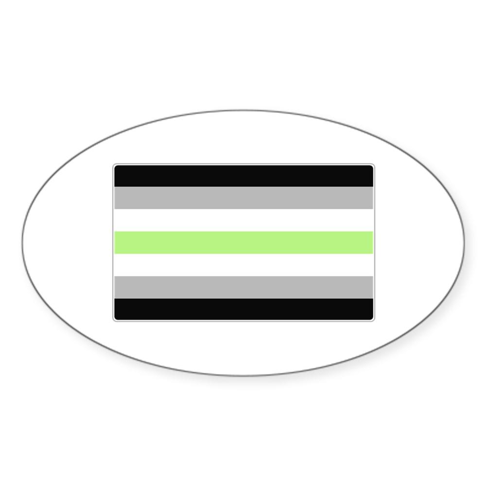 Agender Pride Flag Oval Sticker