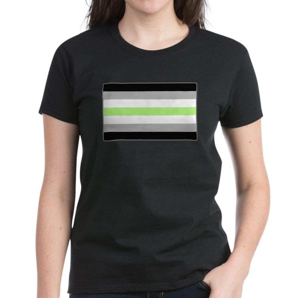 Agender Pride Flag Women's Dark T-Shirt