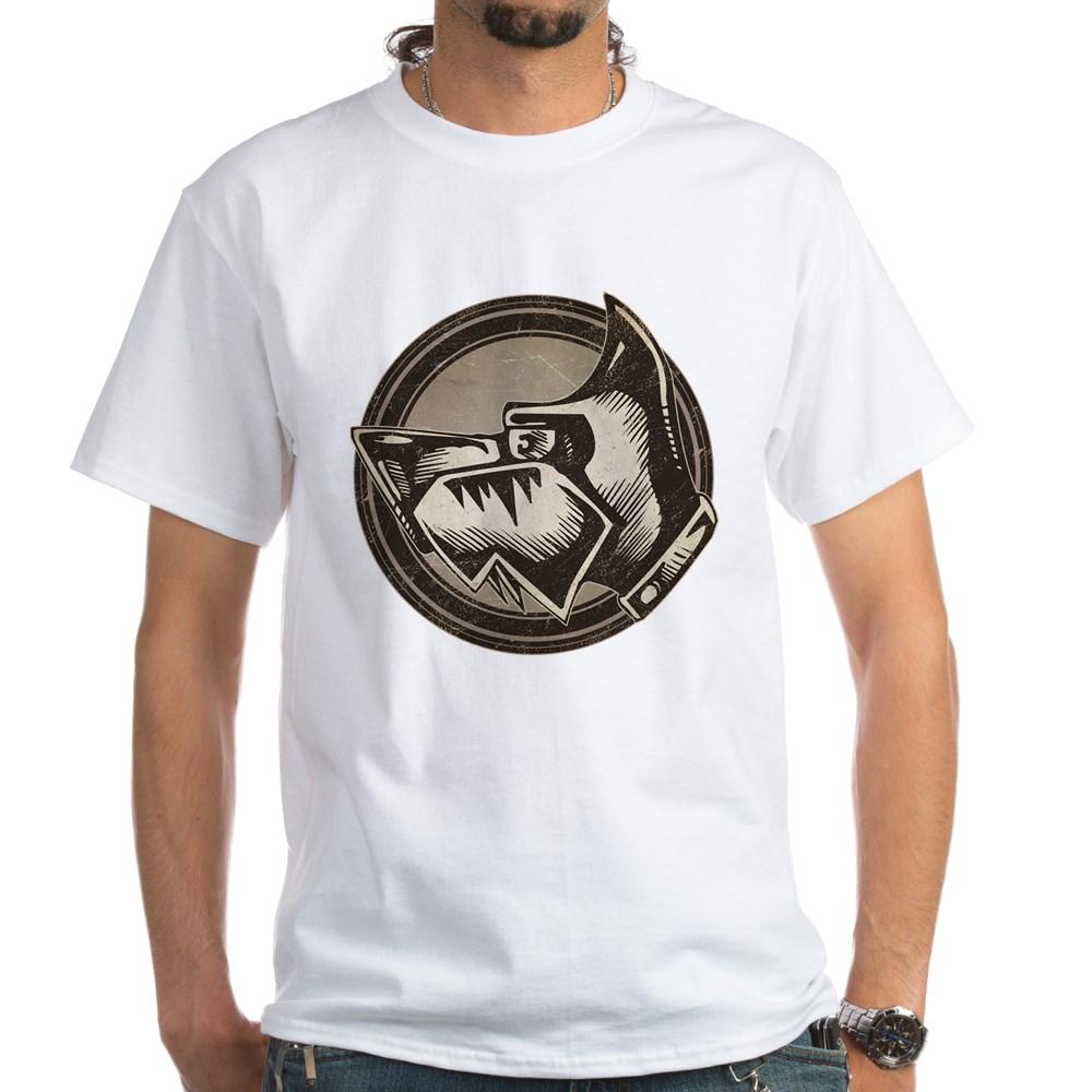Distressed Wild Dog Stamp White T-Shirt