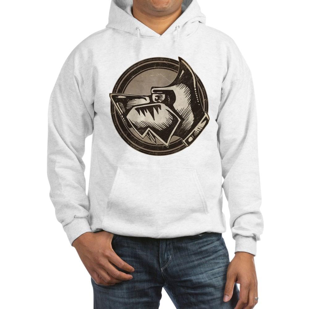 Distressed Wild Dog Stamp Hooded Sweatshirt