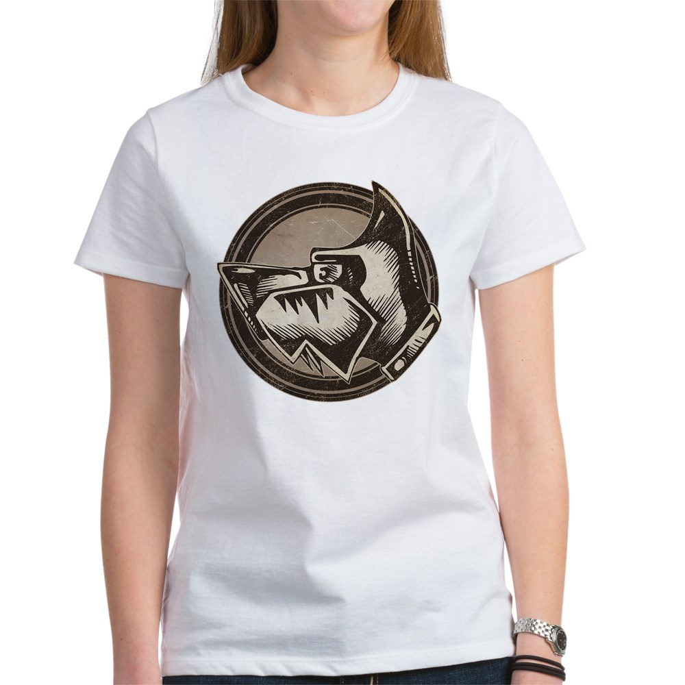 Distressed Wild Dog Stamp Women's T-Shirt