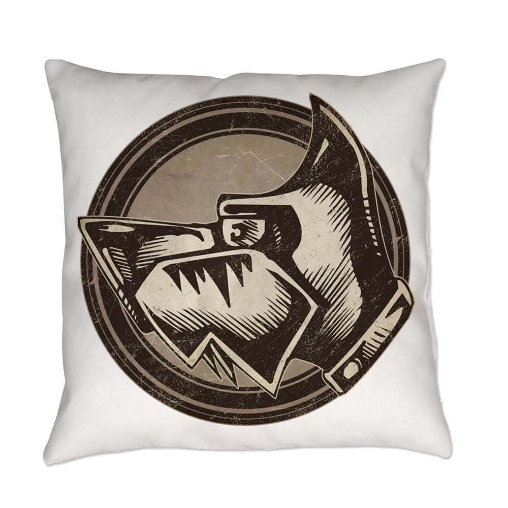 Distressed Wild Dog Stamp Everyday Pillow