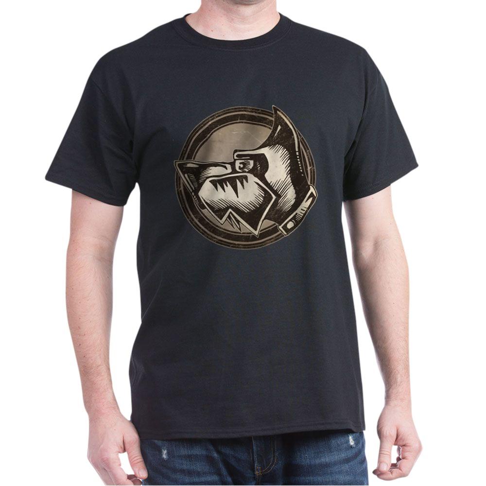 Distressed Wild Dog Stamp Dark T-Shirt