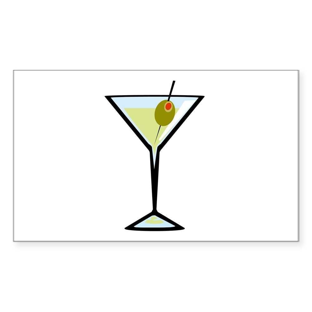 Dirty Martini Rectangle Sticker
